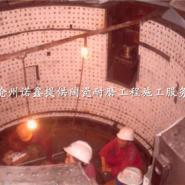 矿山设备耐磨陶瓷贴片施工图片