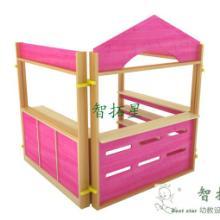 供应幼儿园家具平台式角色游戏红,厂家直销幼儿园家具桌椅床柜批发