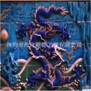 玻璃钢前台艺术九龙壁浮雕装饰摆件图片