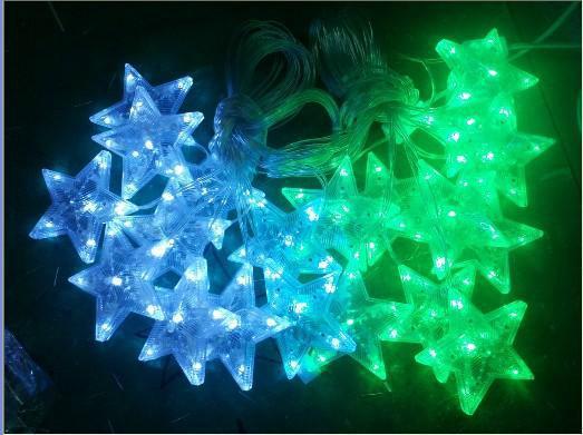 LED月亮灯串LED彩灯灯串 LED亮化满天星灯串 圣诞灯装饰灯10米100灯