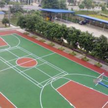 供应水泥地蓝球场地面漆,丙烯酸网球场地坪漆多少钱、看台座位刷漆厂商批发