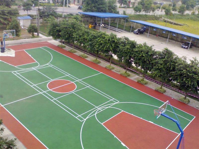 供应深圳户外蓝球场面层,丙烯酸球场地坪漆、学校操场地面材料价钱