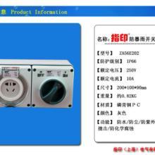 供应指印户外防水开关插座双联ZA56E202批发