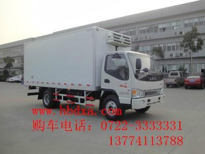 供应江淮牌国四4.9吨冷藏车食品冷藏车 肉类冷藏车 保鲜保温车