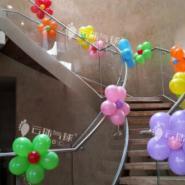 扶梯气球装饰布置/楼梯气球装饰图片