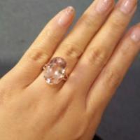 供应摩根石戒指纯天然彩宝戒指镶嵌批发