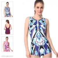2015英发新款女式连体平角泳衣