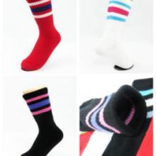 供应台湾袜子条纹百搭足球袜