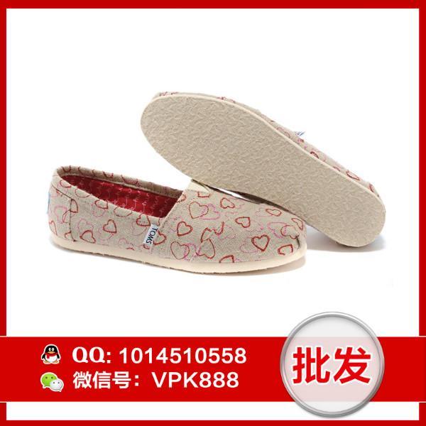 供应toms新款女鞋 正品心形系列帆布女鞋