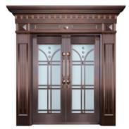 蚌埠铜门铜窗铜扶手旋转门别墅铜门图片