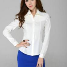 供应女装长袖白衬衫韩版修身衬衣职业工装OL通勤职业衬衣定制