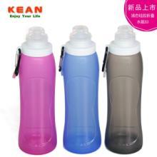 供应旅游新品折叠硅胶水壶便携旅行水袋 魔术水杯 骑行防摔水瓶 厂家直销