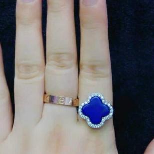 萬福源水晶饰品天然青金石戒指图片