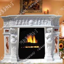 供应欧式雕像壁炉-古典高档壁炉-石材厂家促销大理石壁炉024批发