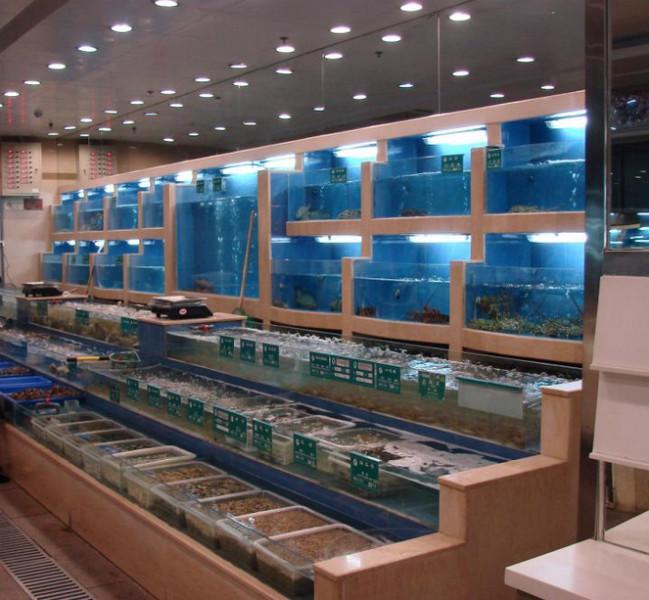 酒店海鲜鱼池制作_酒店海鲜鱼池图片