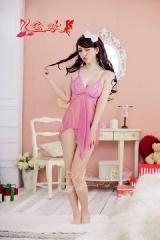 供应孕妇内衣蕾丝透明露乳性感睡衣短裙YH081孕妇该穿什么样的睡衣批发