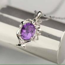 供应萬福源水晶饰品薰衣草项链紫水晶