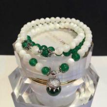 供应萬福源水晶饰品白色色多层手链砗磲白玛瑙磨砂水晶