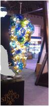 厦门馨诺玻璃艺术高级琉璃盘片吊灯琉璃吊灯欧洲风格吊灯艺术灯饰吊灯-手工吹制琉璃,酒店家居装饰灯图片