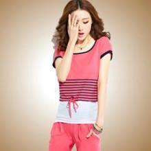 供应哪里有韩版短袖七分裤批发零售休闲套装运动套装短袖七分裤休闲套装批发