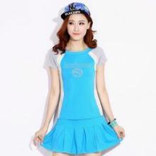 供应哪里有新款短袖短裙批发零售夏季新款女装韩版夏季清凉运动休闲套装图片