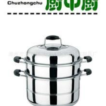 供应高级不锈钢无磁加厚出口双层蒸锅