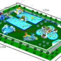 户外支架游泳水池经典充气水池图片