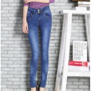 腰小脚欧美气质时尚大牌女牛仔裤图片