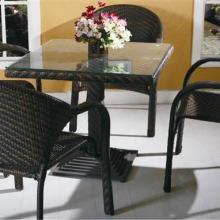 供应户外藤编桌椅五件套组合,田园风格藤编桌椅,藤编桌椅直销图片