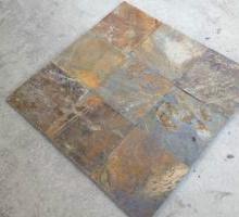 供应优质青底锈色板岩、精品锈板外贸产品促销市场价含木箱包装