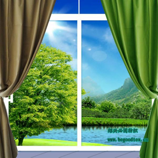 供应用于办公楼窗帘的永久阻燃100%涤纶遮光面料