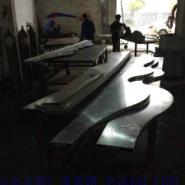 弧形木纹铝方管图片