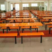 东莞连体餐桌椅图片