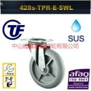 TF8寸重型不锈钢高弹力脚轮图片