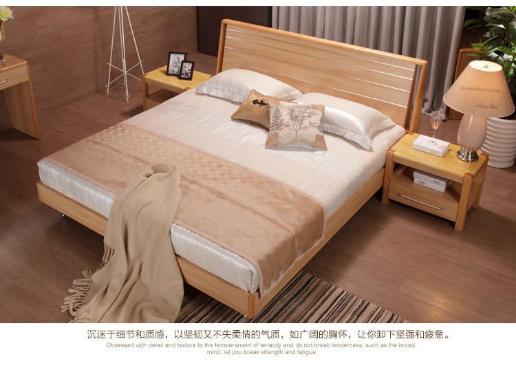 供应亮天下简单木床图片图片