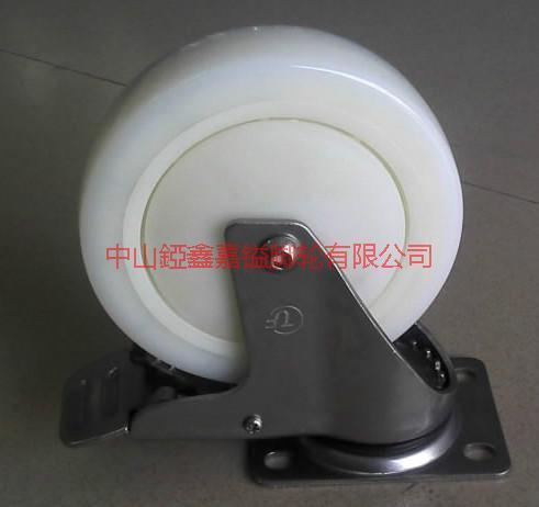 供应TF中型不锈钢尼龙刹车轮3寸4寸5寸中型不锈钢尼龙轮/TF脚轮图片