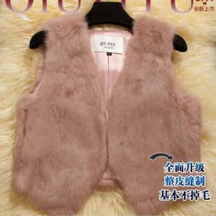 2015新款韩版背心马夹整皮兔毛图片
