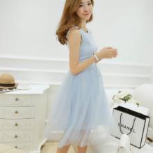 供应夏季2015新款女装修身蕾丝连衣裙