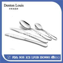 供应不锈钢光身刀叉 经典不锈钢西餐专用牛排刀餐叉茶勺4件套 家居百货