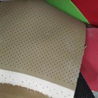 供应汽车坐垫皮料冲孔皮革压点 彩色泡棉材料冲孔