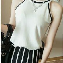 供应白色针织吊带衫