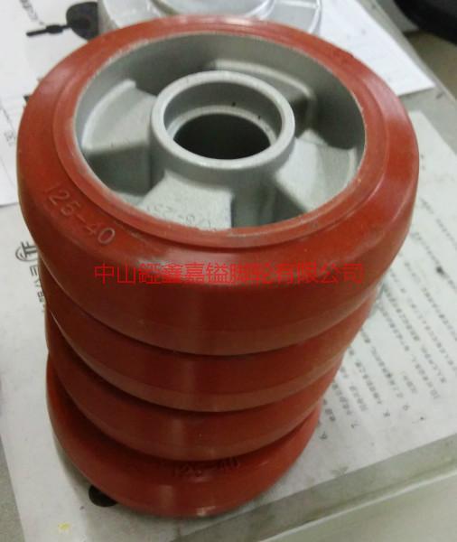 供应铝芯橡胶高温单轮,3寸4寸5寸6寸8寸铝芯橡胶高温单轮