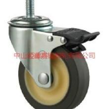 供应TF中型6寸中型TPR静音螺杆刹车脚轮-南京6寸中型TPR轮批发商-脚轮