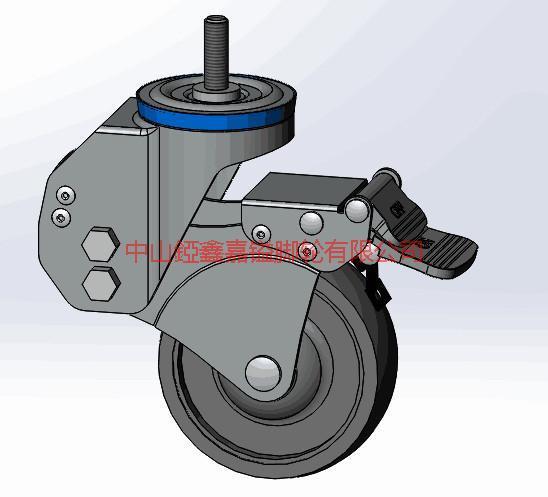供应TF中型丝杆螺杆减震刹车脚轮-广东中山耐磨脚轮批发商-脚轮批发商价格