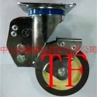供应TF中型双轴承静音TPR减震定向脚轮-广东带弹簧影音轮,抗穿刺脚轮图片