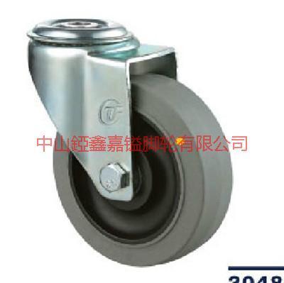 供应TF中型3寸4寸5寸孔顶导电穴式万向-导电万向轮-导电刹车脚轮-中型导电