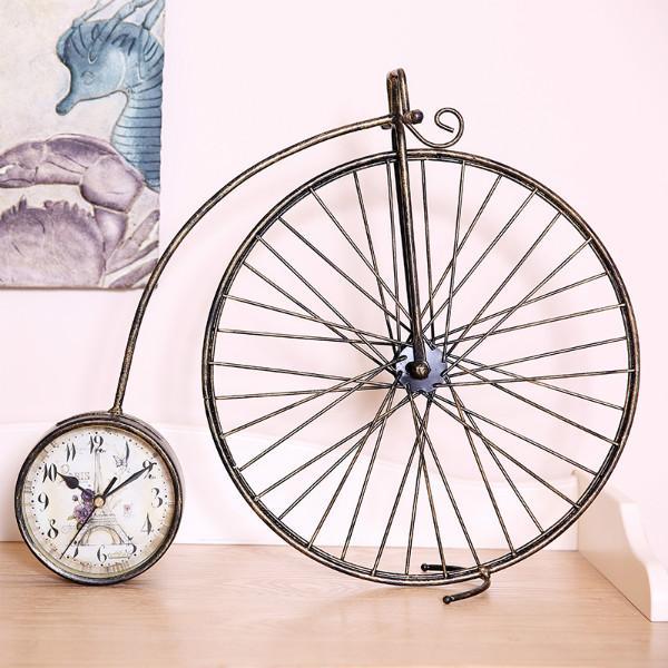 供应家之炫创意复古创意自行车摆件座钟