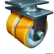 供应TF超重型铁芯PU双轮定向脚轮-响水超重型轮批发-金湖超重型轮批发价