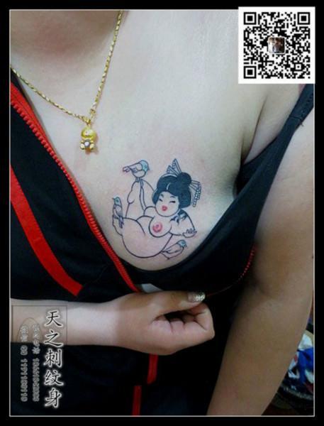 锁骨纹身女孩纹身肩膀纹身图腾纹身图片大全