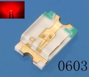 led0603红色贴片发光二极管图片